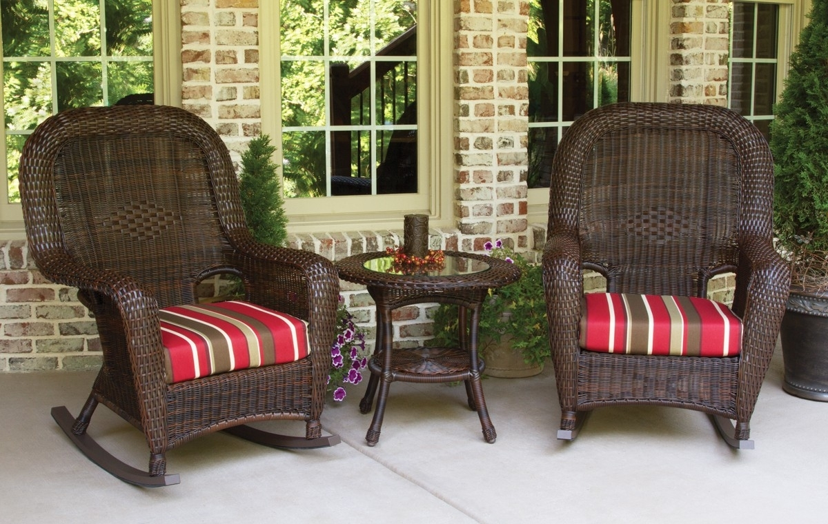 Patio Furniture And Decor, Patio Swings And Furniture In Resin Patio Rocking Chairs (#6 of 15)