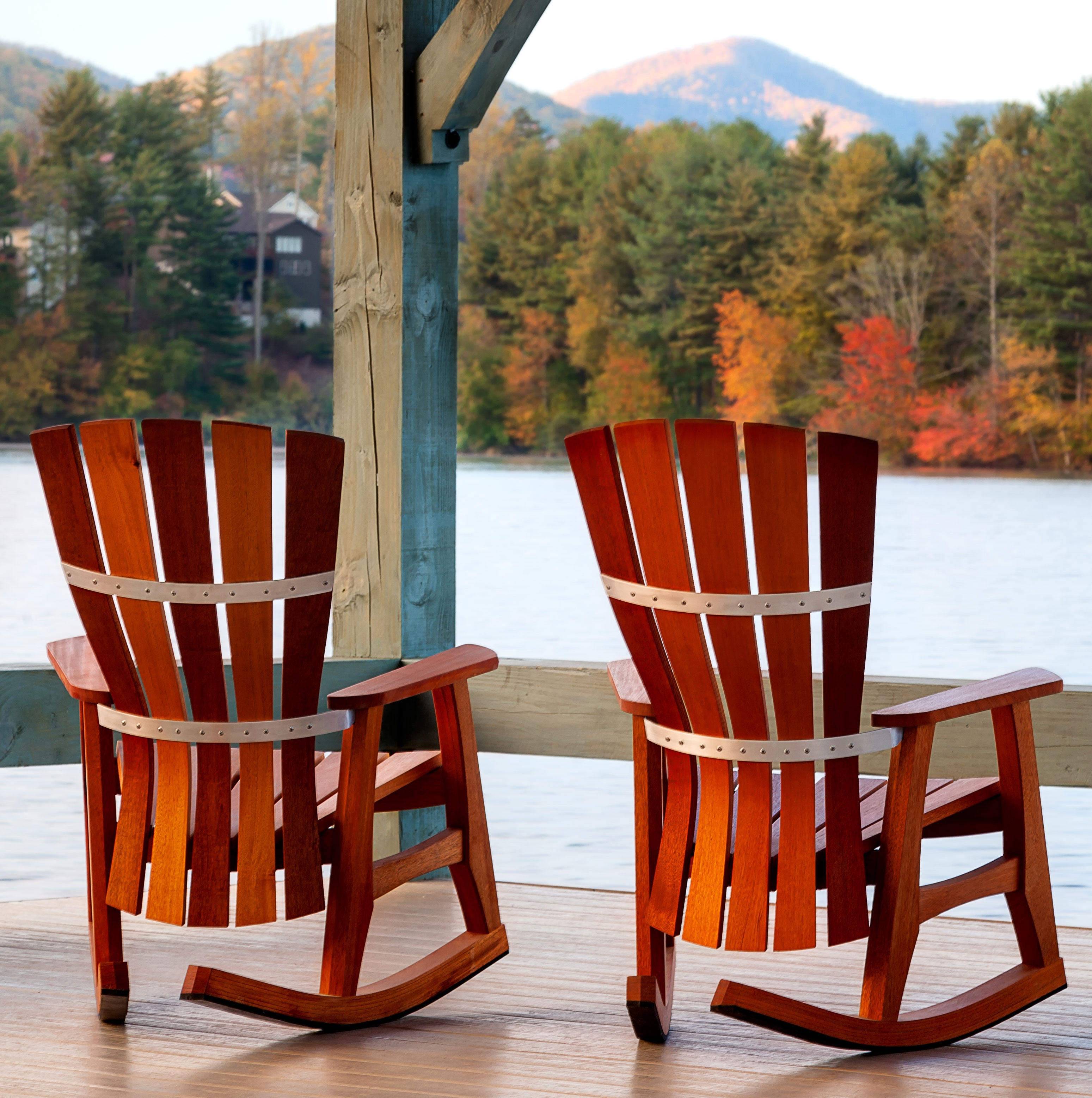 Patio Furniture Rocking Chair Fibreglass Iron And Birch Material Regarding Outside Rocking Chair Sets (View 11 of 15)
