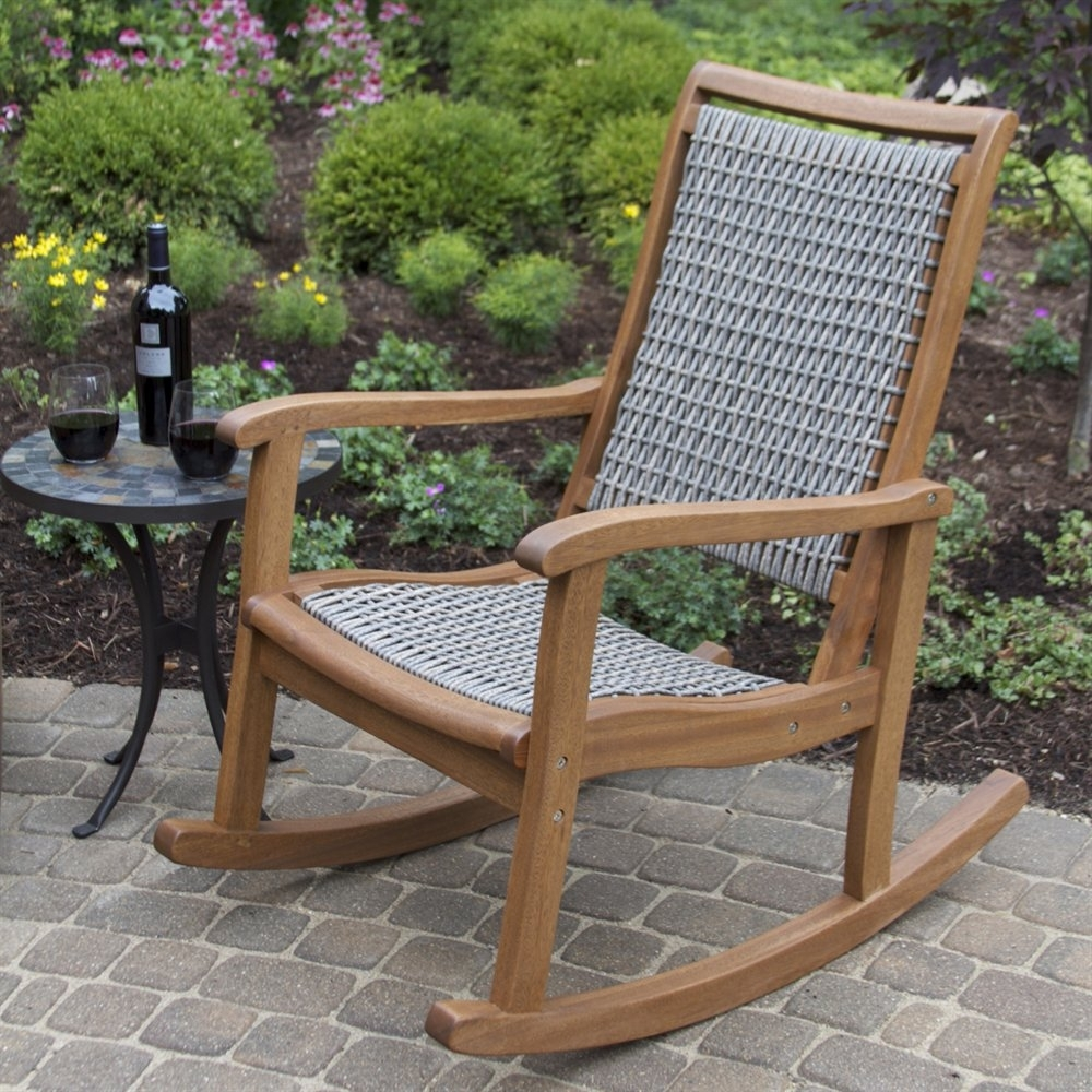 Inspiration about Patio Garden Outdoor Rocking Chair Lowes Center Vegetable Ideas Pertaining To Small Patio Rocking Chairs (#8 of 15)