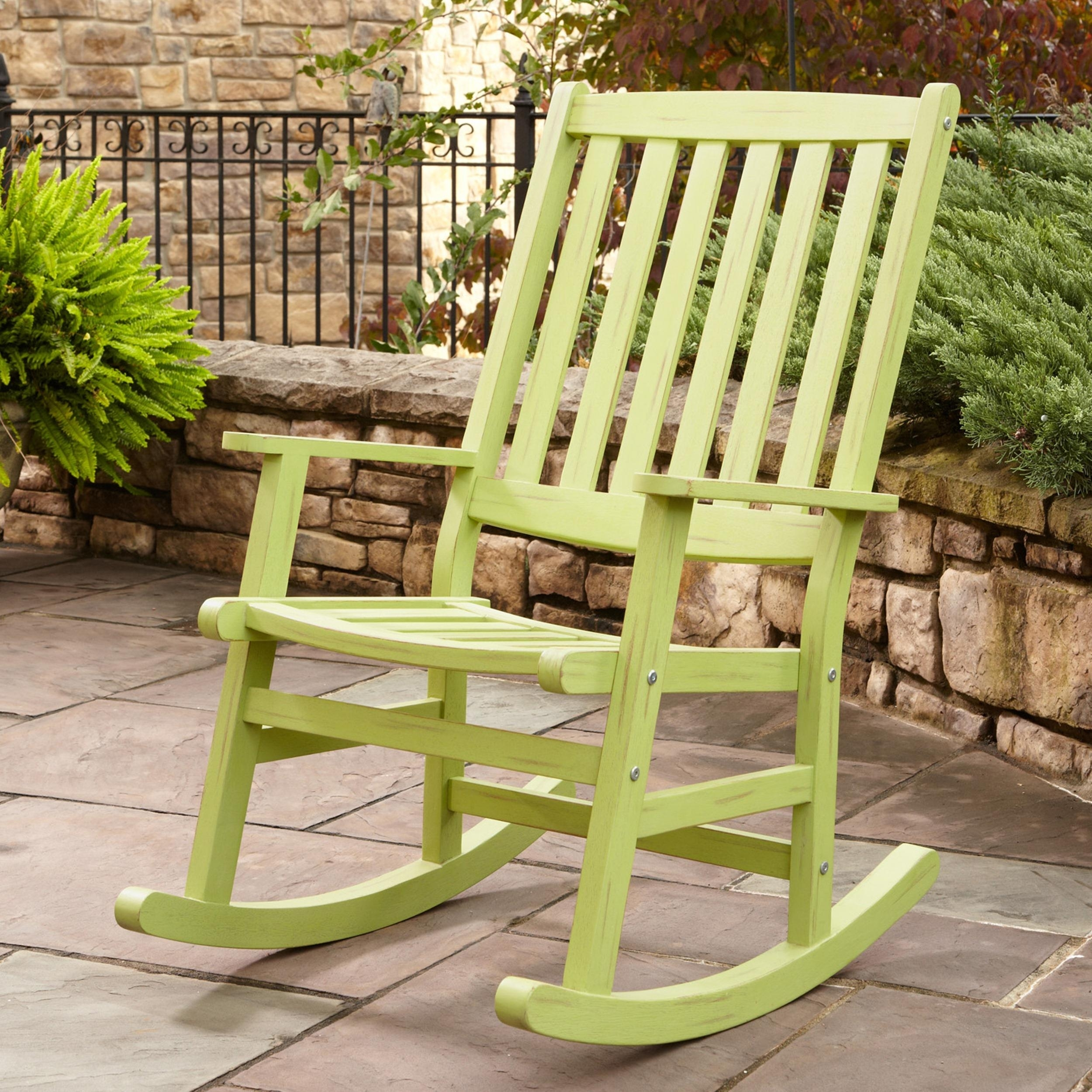 Patio Porch Rocking Chair — Wilson Home Ideas : Vintage Porch Intended For Vintage Metal Rocking Patio Chairs (View 14 of 15)