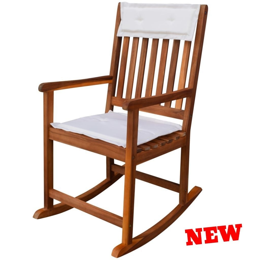 Inspiration about Patio Rocking Chair Outdoor Garden Porch Nursery Toddler Cushion With Regard To Wooden Patio Rocking Chairs (#11 of 15)