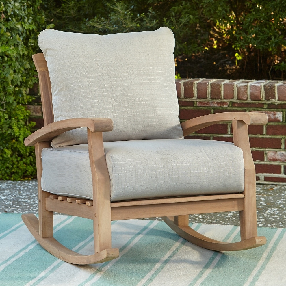 Patio Rocking Chair Teak Wood — Wilson Home Ideas : Relaxing Patio With Regard To Teak Patio Rocking Chairs (View 5 of 15)