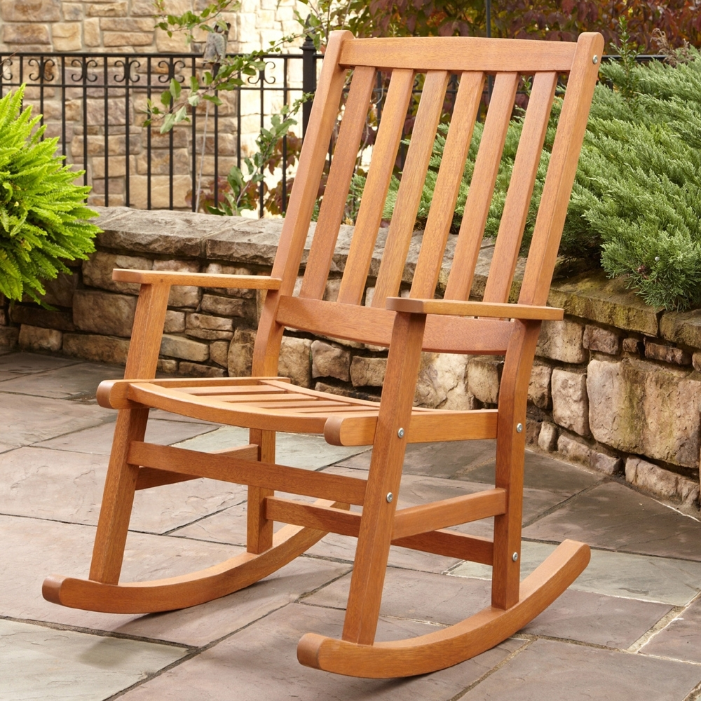 Inspiration about Patio Rocking Chairs Wood : Spectacular And Sensational Patio Intended For Outdoor Patio Rocking Chairs (#15 of 15)
