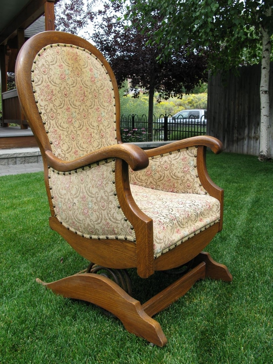 Platform Or Spring Rocking Chair | Collectors Weekly Pertaining To Antique Wicker Rocking Chairs With Springs (#11 of 15)