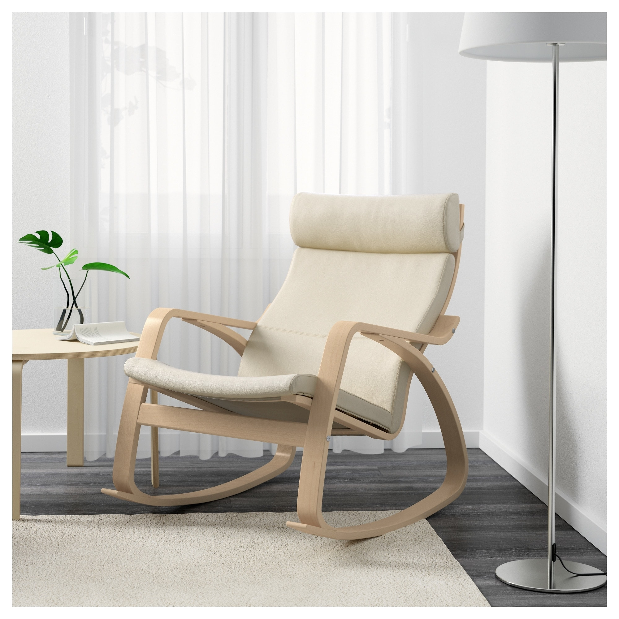 Inspiration about Poäng Rocking Chair Birch Veneer/glose Eggshell – Ikea With Regard To Rocking Chairs For Adults (#9 of 15)
