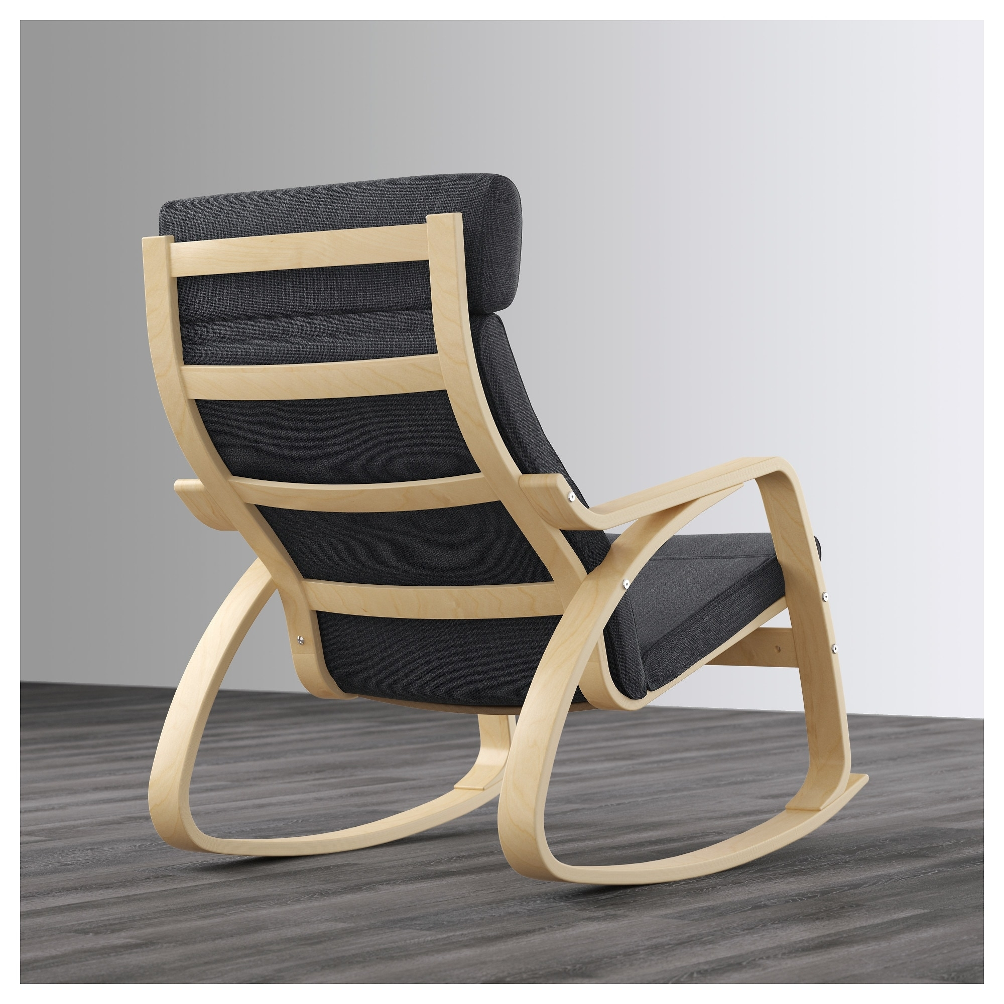 Inspiration about Poäng Rocking Chair Birch Veneer/hillared Anthracite – Ikea Regarding Ikea Rocking Chairs (#8 of 15)