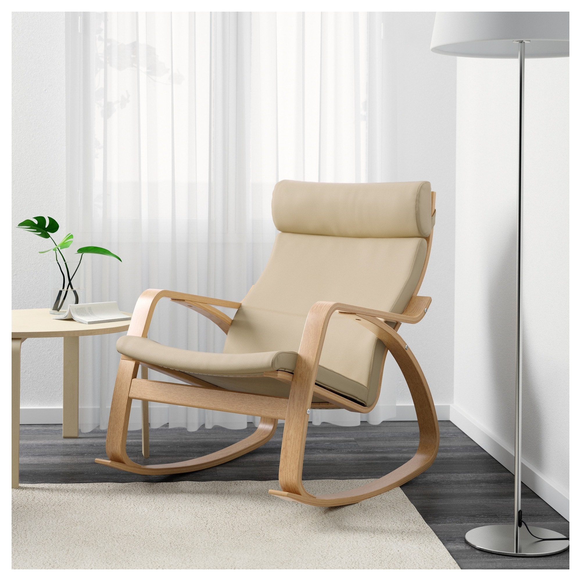 Inspiration about Poäng Rocking Chair Oak Veneer/glose Eggshell – Ikea Pertaining To High Back Rocking Chairs (#14 of 15)