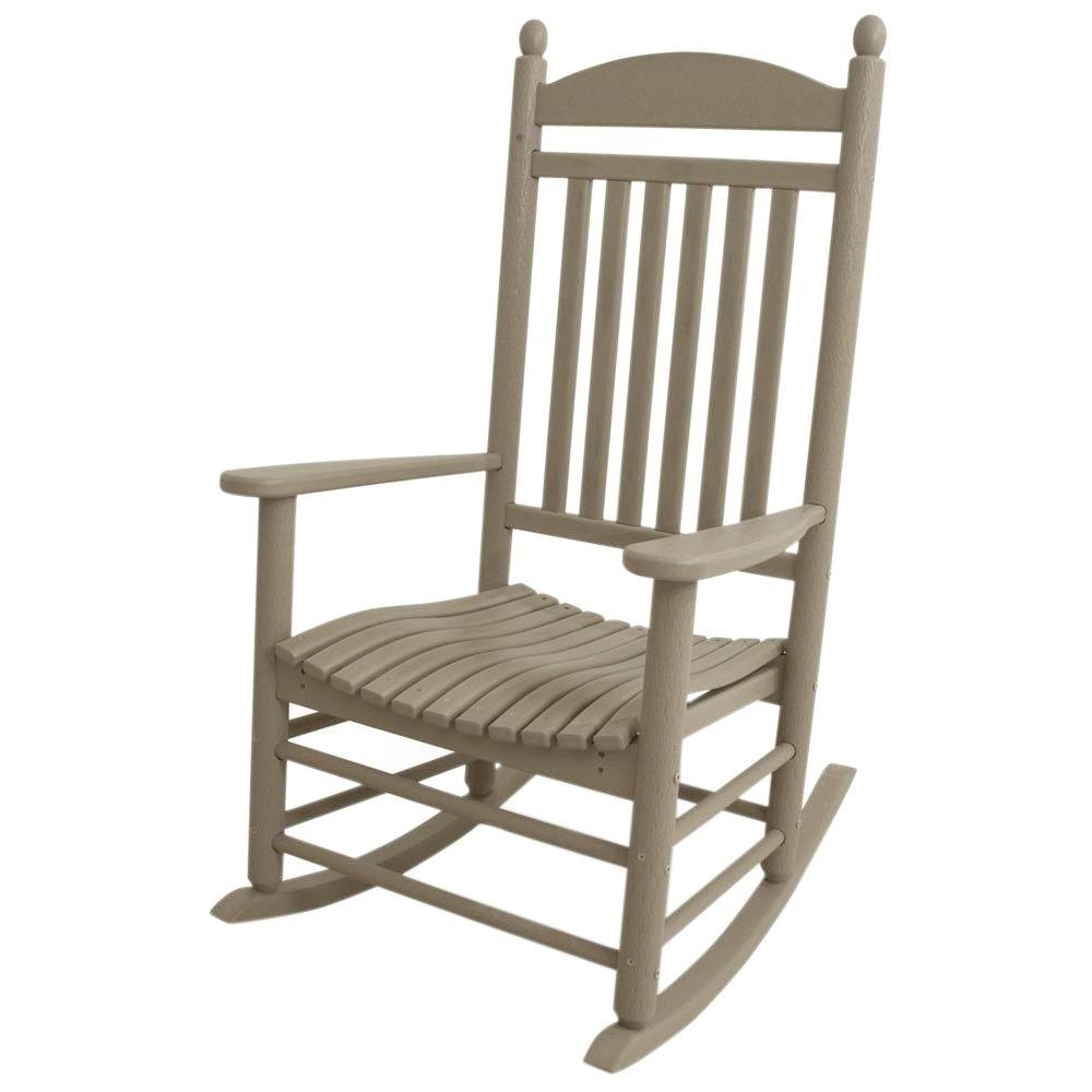 Inspiration about Polywood Jefferson Sand Patio Rocker J147Sa – The Home Depot With Modern Patio Rocking Chairs (#12 of 15)