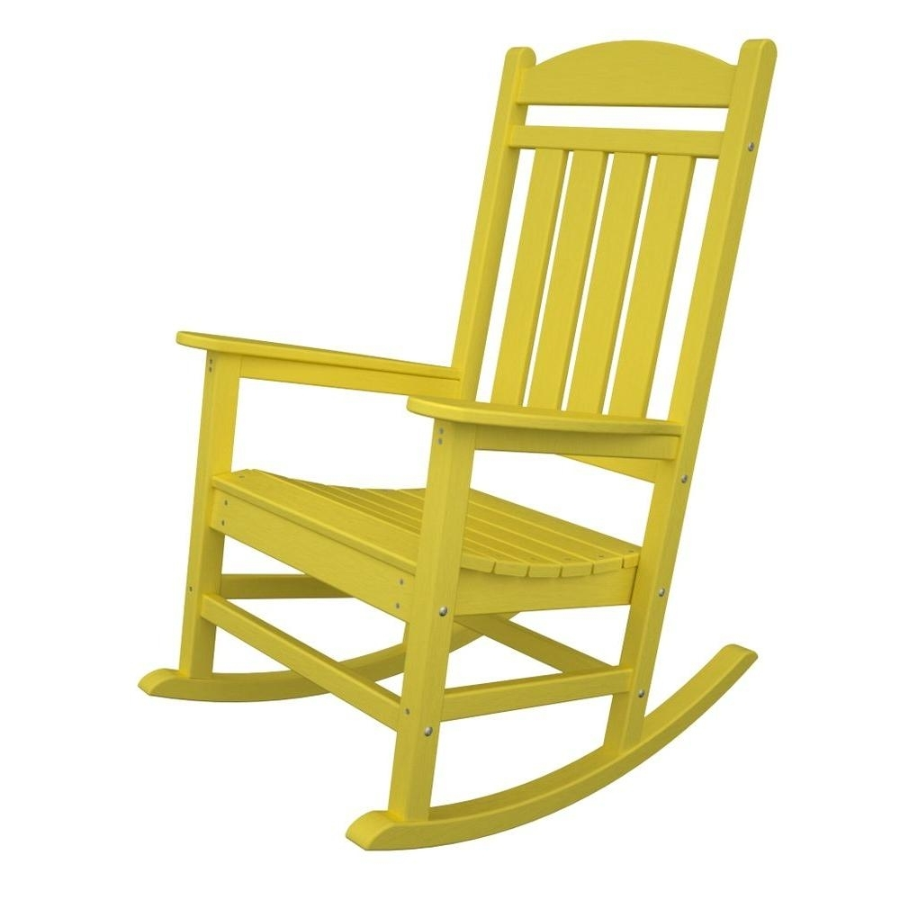 Popular Photo of Yellow Outdoor Rocking Chairs