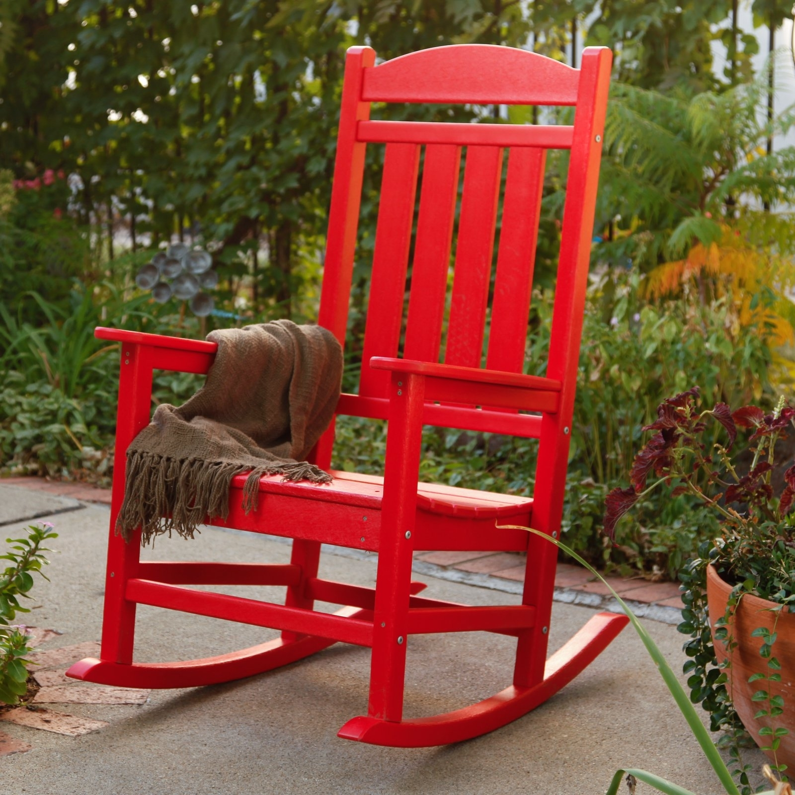 Polywood® Presidential Recycled Plastic Rocking Chair – Walmart Intended For Plastic Patio Rocking Chairs (View 9 of 15)