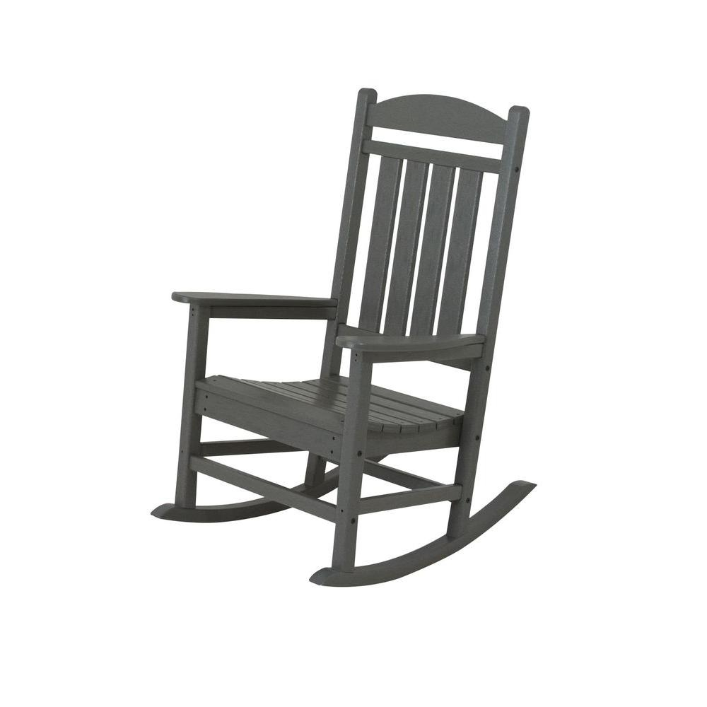 Inspiration about Polywood Presidential Slate Grey Plastic Patio Rocker R100Gy – The For Plastic Patio Rocking Chairs (#4 of 15)
