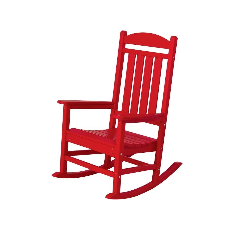 Popular Photo of Red Patio Rocking Chairs