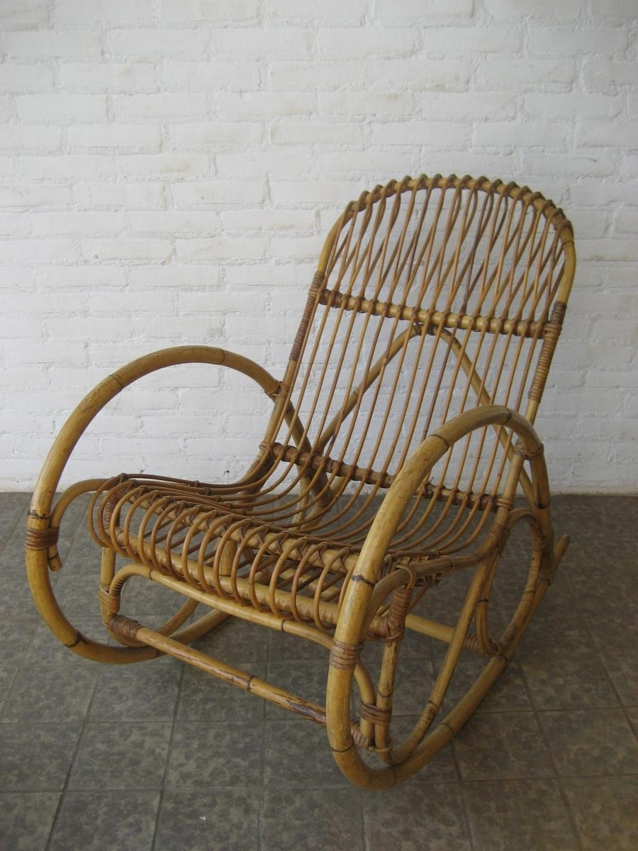 Rattaning Chair Antique Best Home Decoration Cushions Outdoor Chairs Within Vintage Wicker Rocking Chairs (#4 of 15)