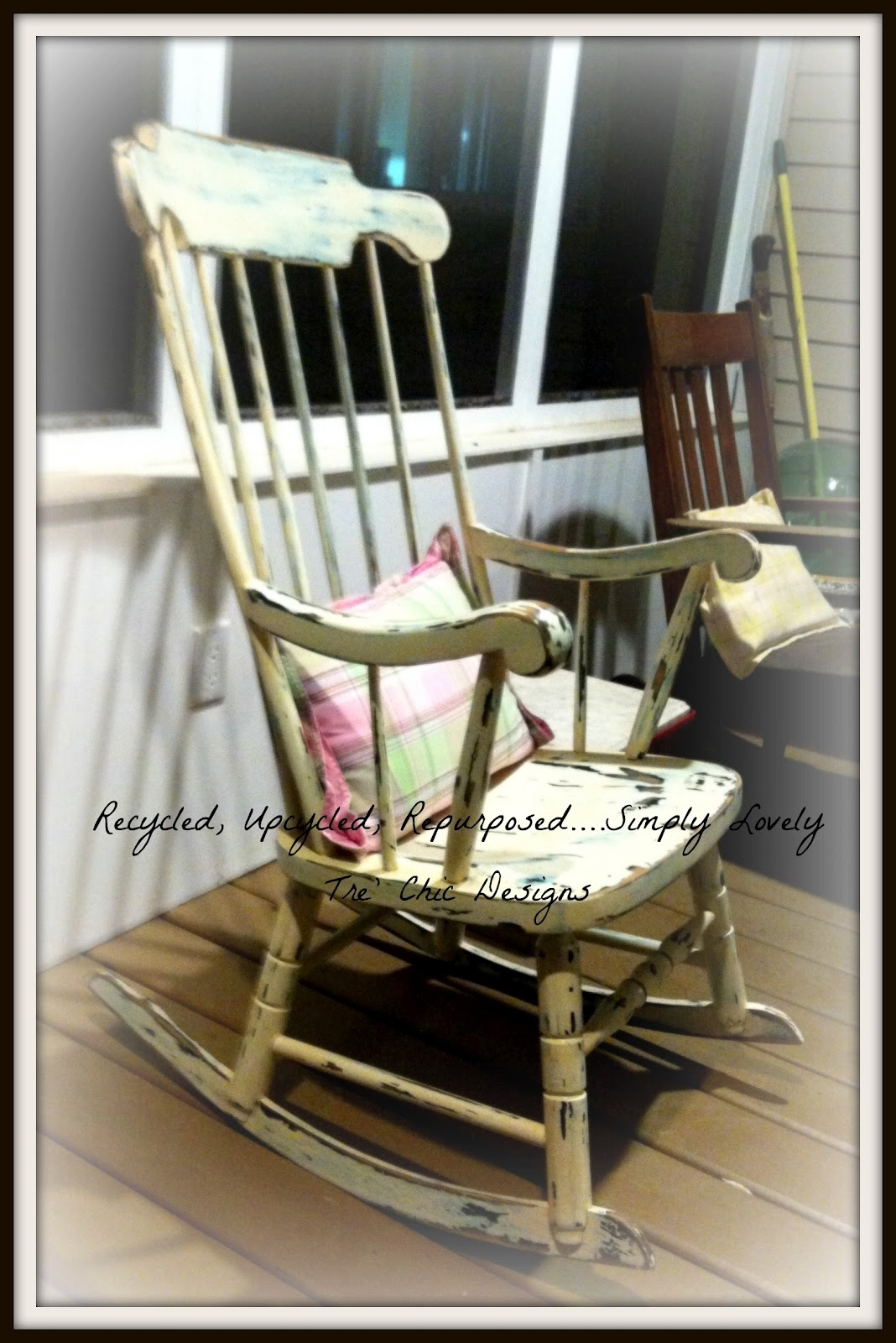 Inspiration about Recycled, Upcycled, Repurposed .simply Lovely Tre' Chic Designs With Regard To Upcycled Rocking Chairs (#7 of 15)