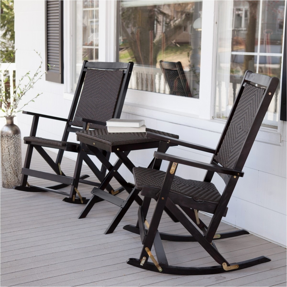 Resin Outdoor Rocking Chairs Lovely Patio Chairs Plastic Muskoka Throughout Outdoor Rocking Chairs With Table (#9 of 15)