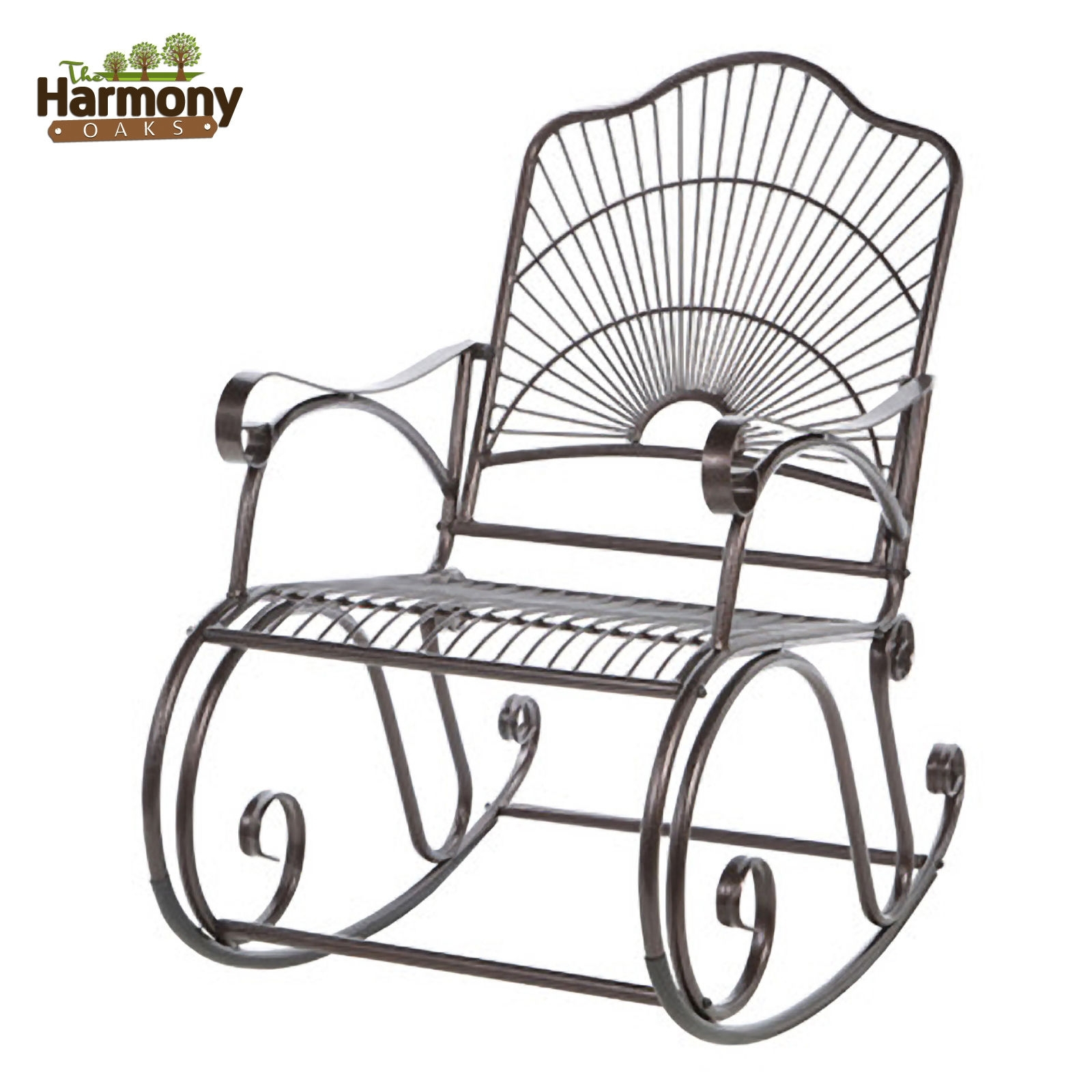 Inspiration about Rocker Wrought Iron Outdoor Patio Porch New Furniture Wrought Iron Inside Wrought Iron Patio Rocking Chairs (#7 of 15)