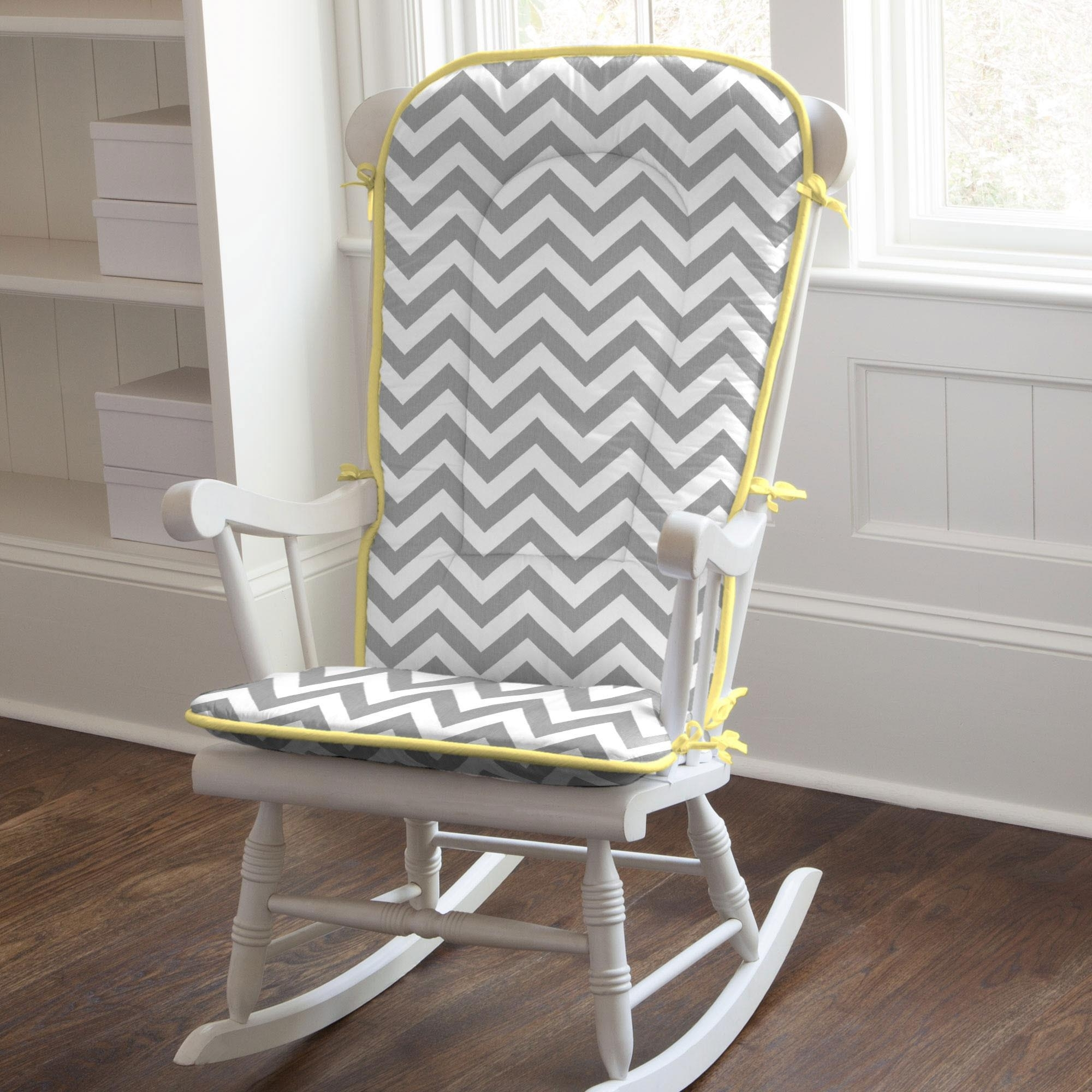 Rocking Chair Pads | Cushions For Rocking Chairs | Carousel Designs Intended For Yellow Outdoor Rocking Chairs (#8 of 15)