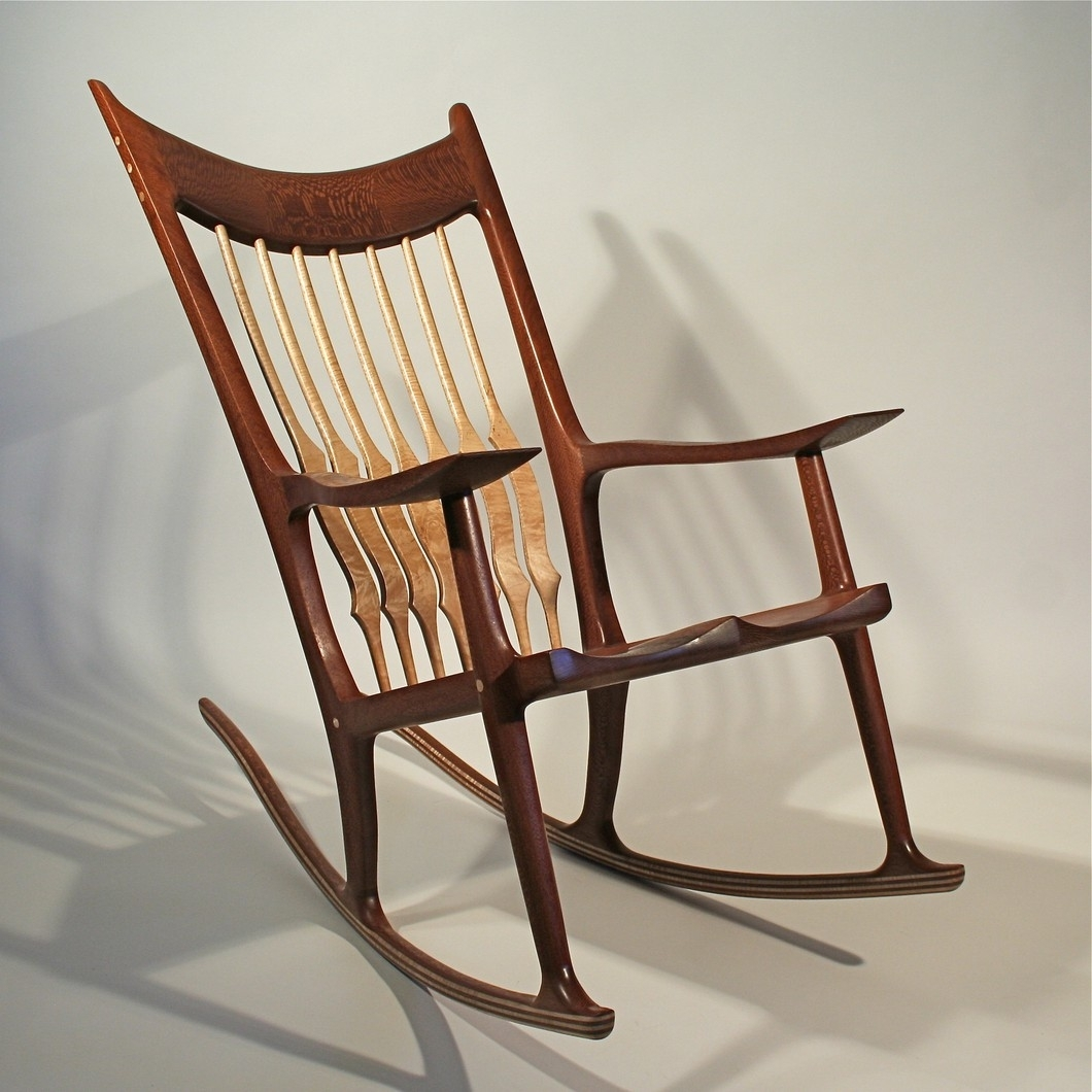 Rocking Chair – Timothy's Fine Woodworking Throughout Rocking Chairs With Lumbar Support (View 7 of 15)