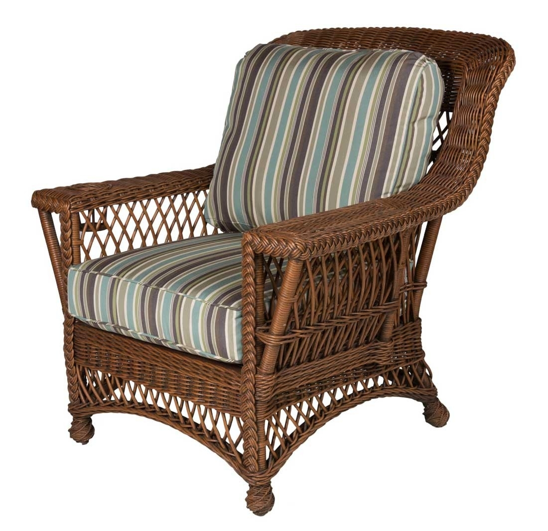 Rockport Natural Wicker Chair With Magazine & Glass Holder High Back Within Wicker Rocking Chair With Magazine Holder (#13 of 15)