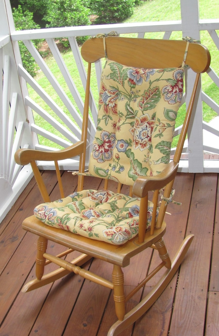 Seating That Is Sure To Please For Outdoor Rocking Chairs In Rocking Chair Cushions For Outdoor (#14 of 15)