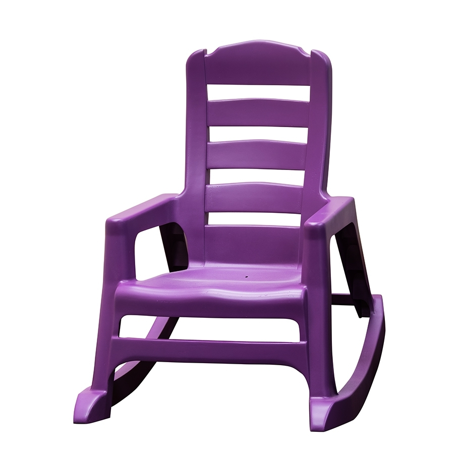 Shop Adams Mfg Corp Kids Stackable Resin Rocking Chair At Lowes Intended For Stackable Patio Rocking Chairs (View 12 of 15)