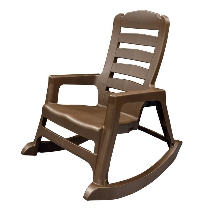 Shop Adams Mfg Corp Stackable Resin Rocking Chair At Lowes With Regard To Stackable Patio Rocking Chairs (View 13 of 15)