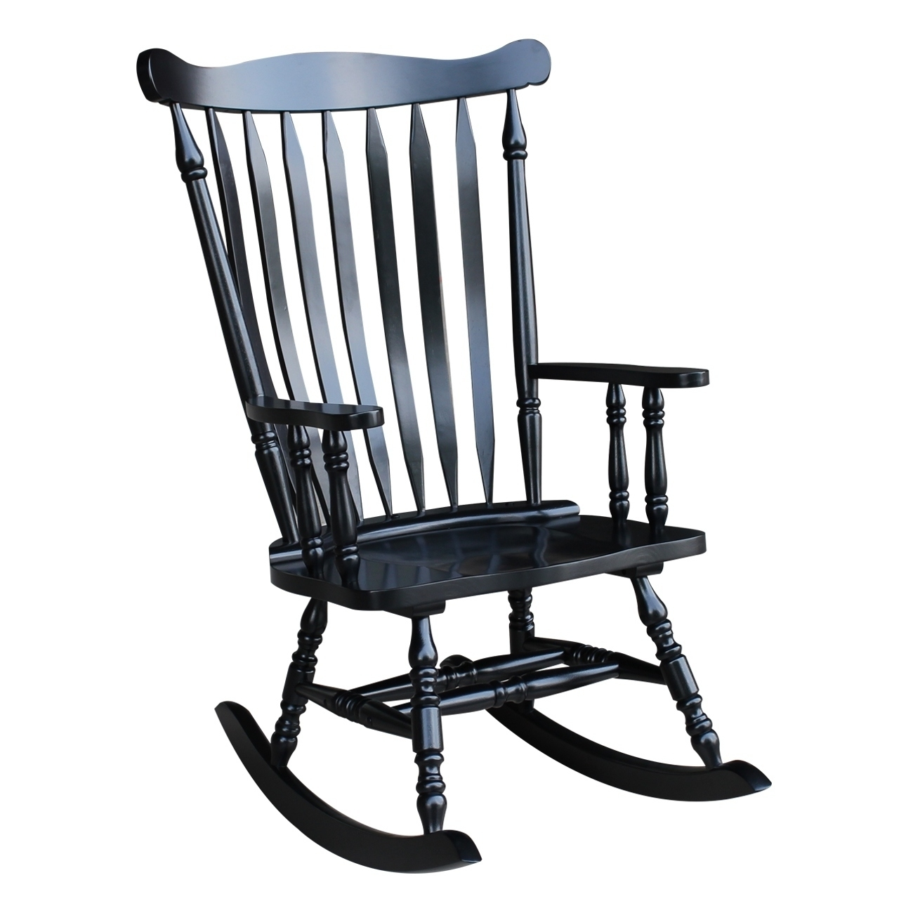 Shop Colonial Antique Black Rocking Chair – Free Shipping Today Regarding Black Rocking Chairs (#13 of 15)
