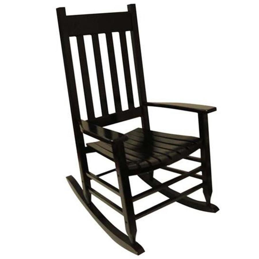 Shop Garden Treasures Acacia Rocking Chair With Slat Seat At Lowes Throughout Stackable Patio Rocking Chairs (View 15 of 15)
