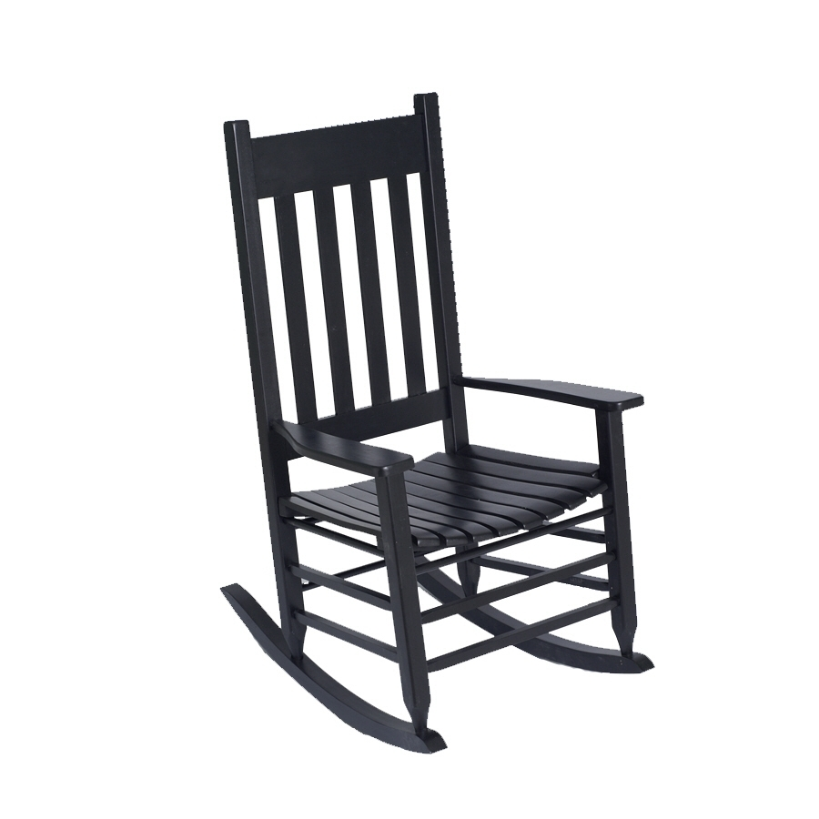Shop Garden Treasures Patio Rocking Chair At Lowes In Black Patio Rocking Chairs (#13 of 15)