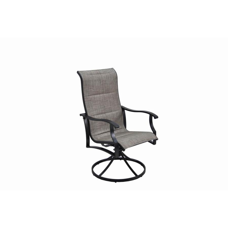 Shop Garden Treasures Skytop 2 Count Black Steel Swivel Rocker Patio With Patio Rocking Swivel Chairs (#14 of 15)