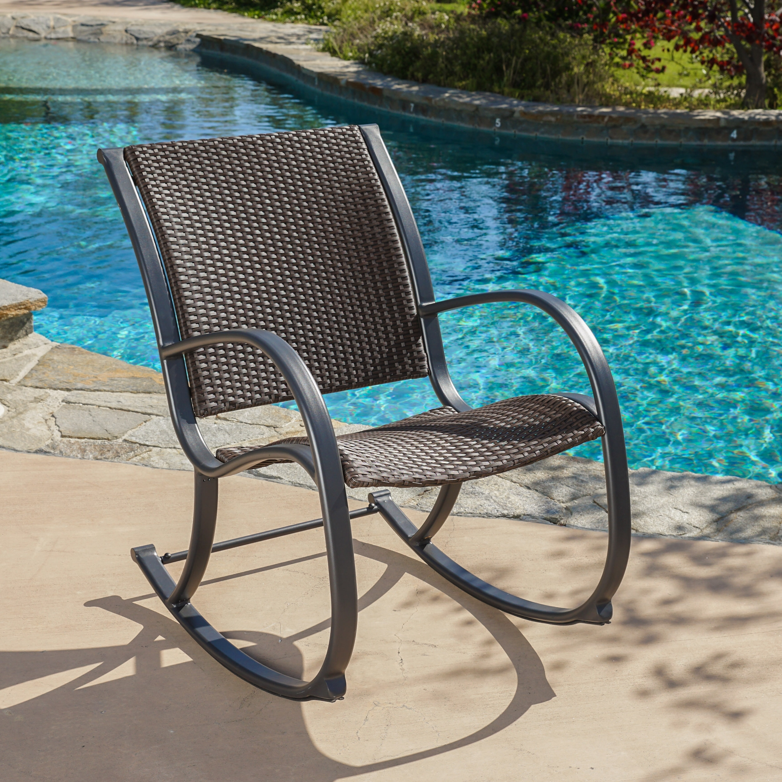 Shop Gracie's Outdoor Wicker Rocking Chairchristopher Knight Intended For Rattan Outdoor Rocking Chairs (View 11 of 15)