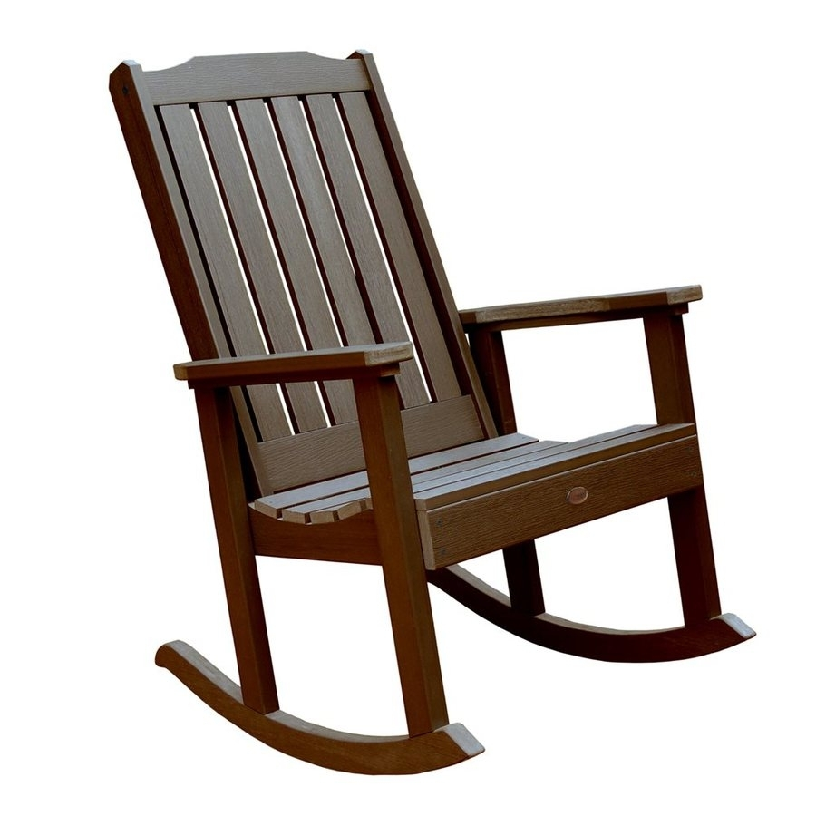 Shop Highwood Usa Lehigh Plastic Rocking Chair With Slat Seat At Within Plastic Patio Rocking Chairs (View 14 of 15)