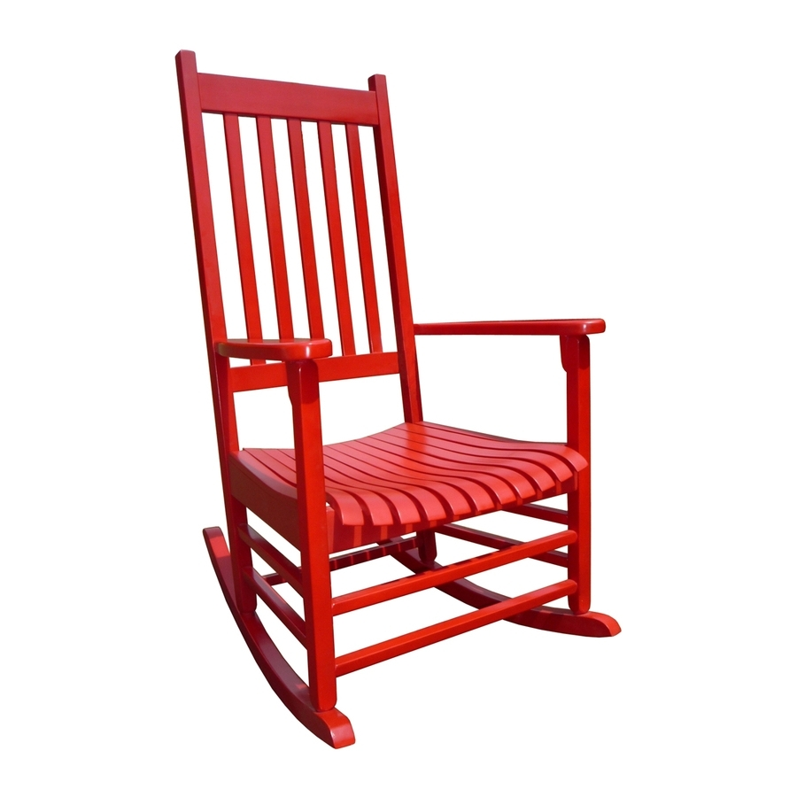 Shop International Concepts Acacia Rocking Chair With Slat Seat At Pertaining To Red Patio Rocking Chairs (View 13 of 15)