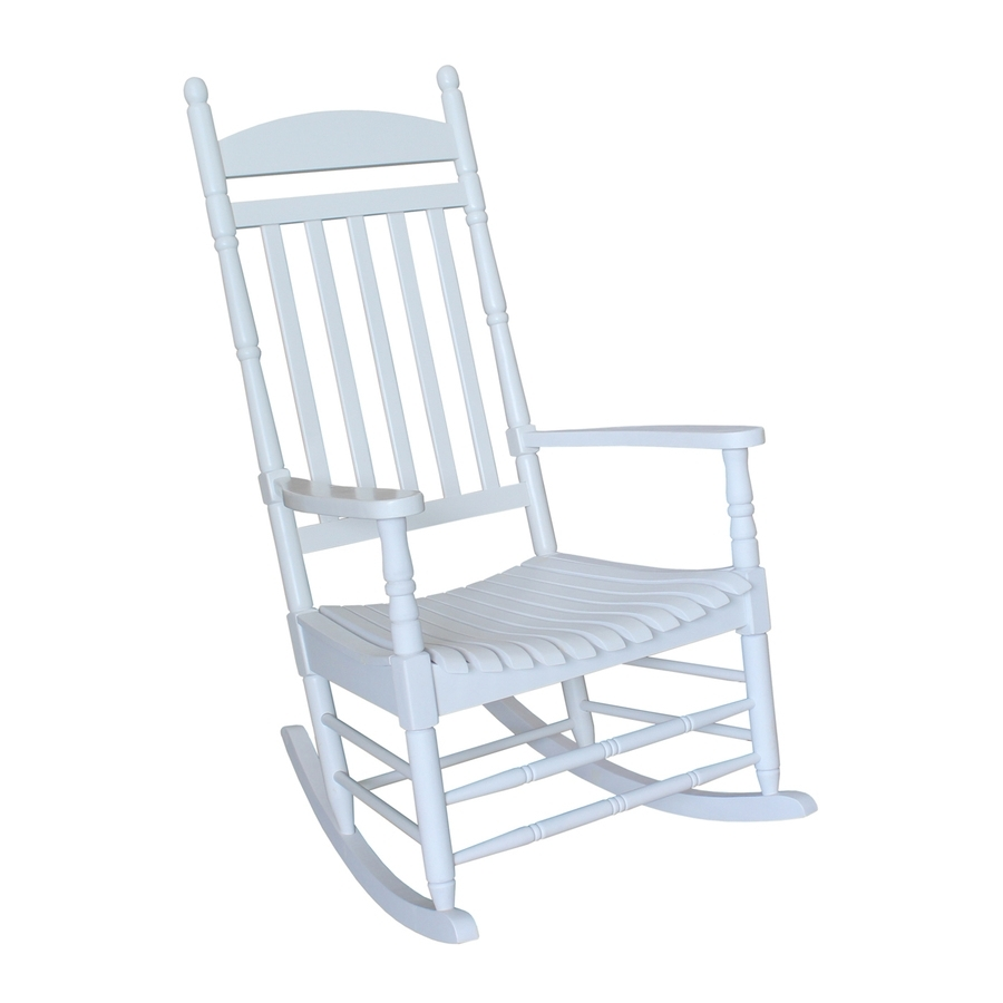 Shop International Concepts Acacia Rocking Chair With Slat Seat At Throughout White Patio Rocking Chairs (#12 of 15)