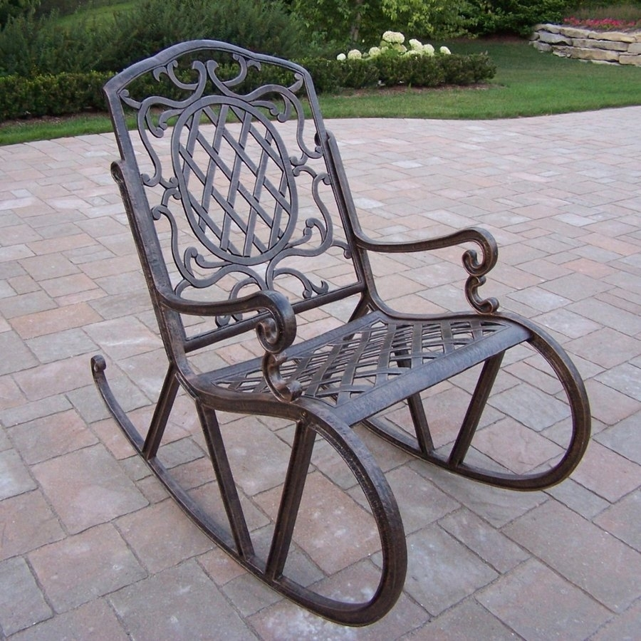 Popular Photo of Aluminum Patio Rocking Chairs