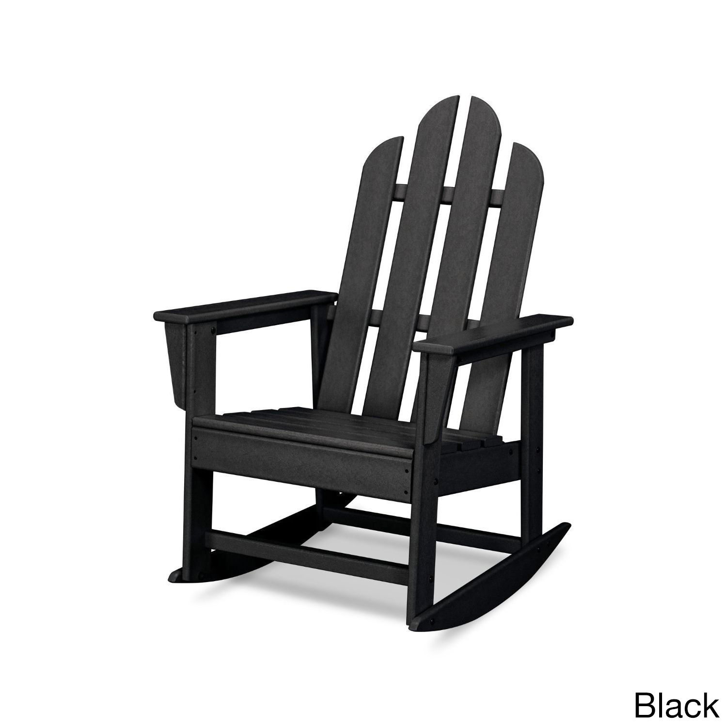 Shop Polywood Long Island Outdoor Rocking Chair – Free Shipping Throughout Manhattan Patio Grey Rocking Chairs (#11 of 15)