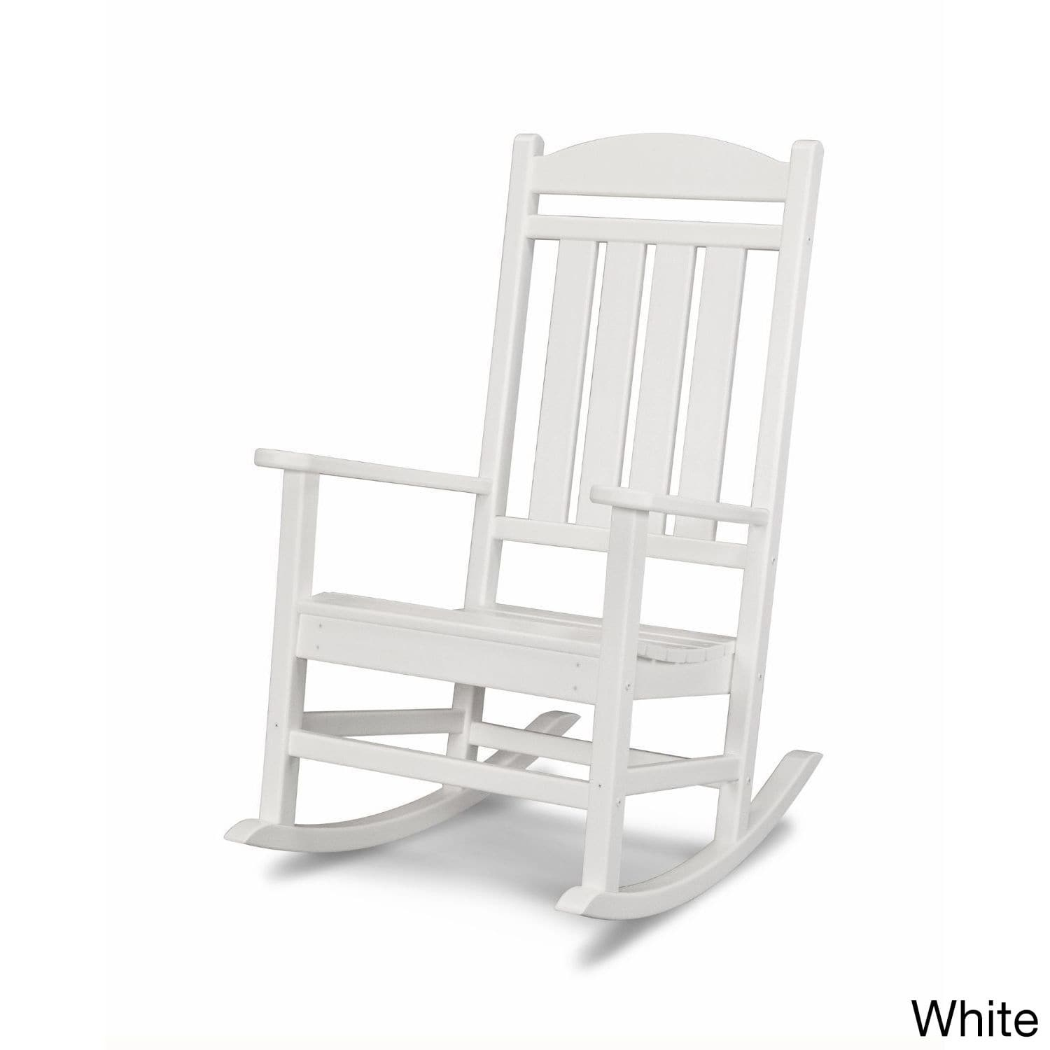 Shop Polywood Presidential Outdoor Rocking Chair – Free Shipping Regarding Manhattan Patio Grey Rocking Chairs (#12 of 15)
