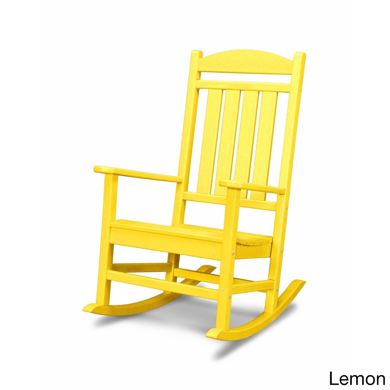 Shop Polywood Presidential Outdoor Rocking Chair – Free Shipping Throughout Yellow Outdoor Rocking Chairs (#11 of 15)