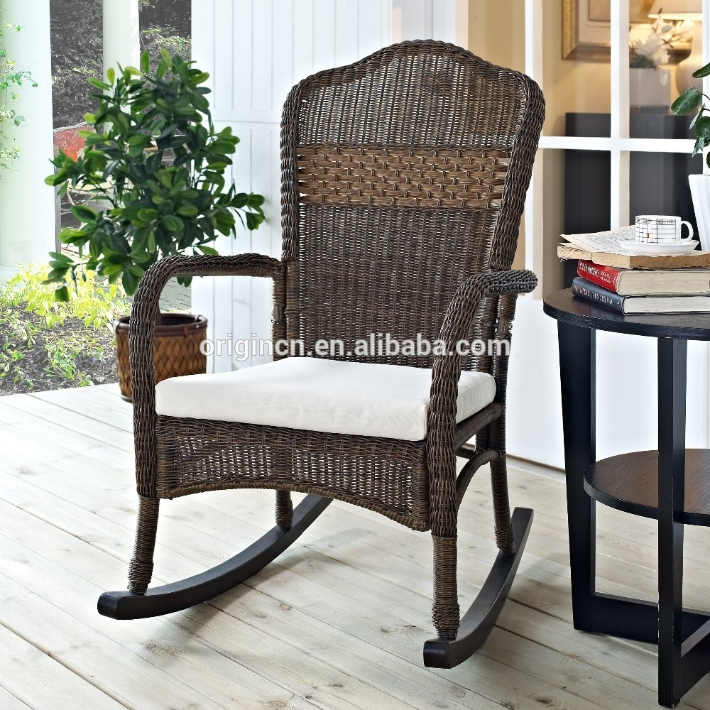 Sophisticated Porch Outdoor Relaxing Ratan Wicker Furniture For Rattan Outdoor Rocking Chairs (View 12 of 15)