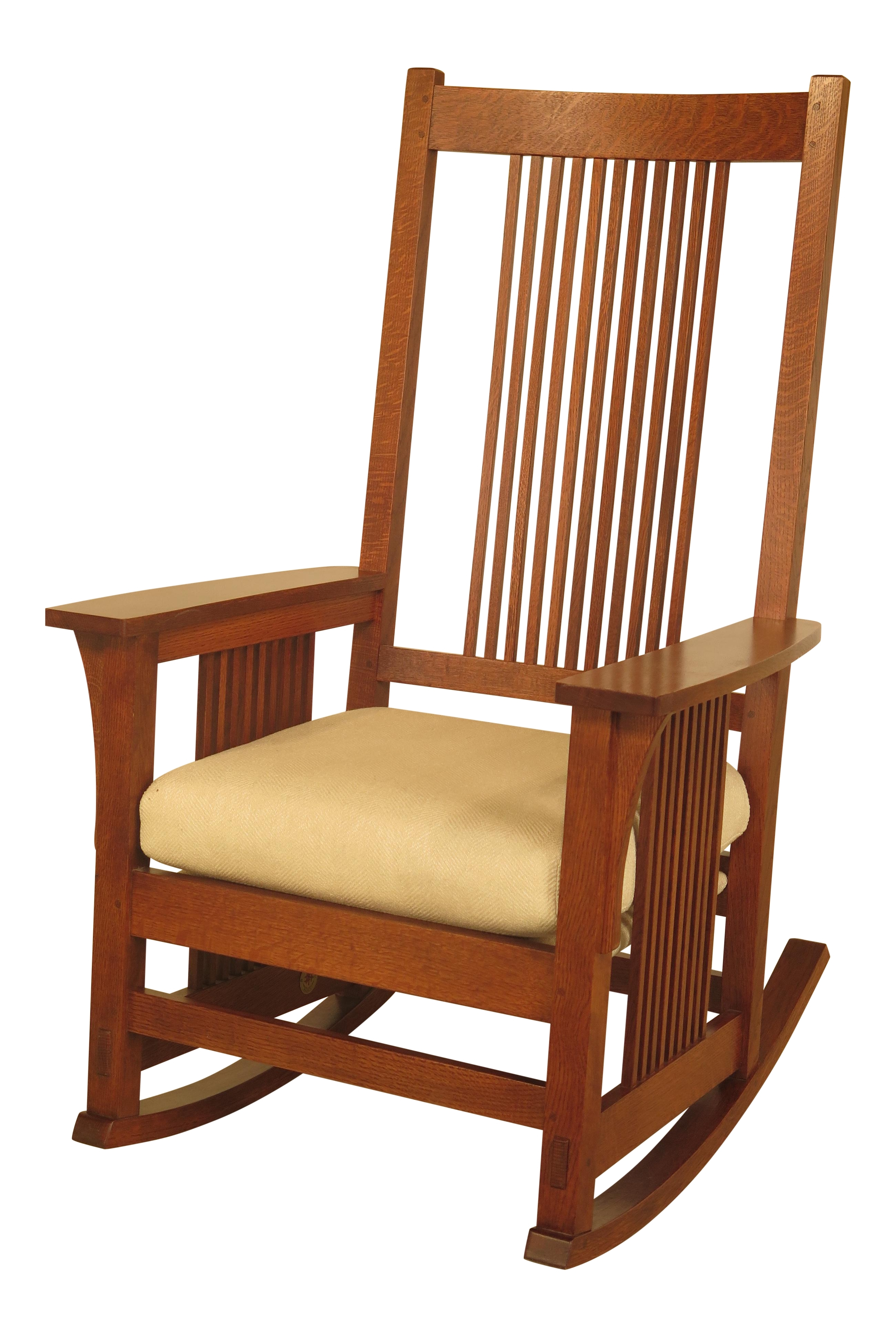 Stickley Spindle Back Mission Oak Rocking Chair Chairish Chairs With Intended For Rocking Chairs With Lumbar Support (View 15 of 15)