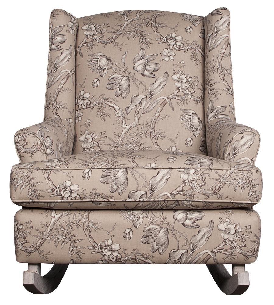 Studio 47 Wendy Upholstered Rocking Chair | Morris Home Inside Upholstered Rocking Chairs (#14 of 15)