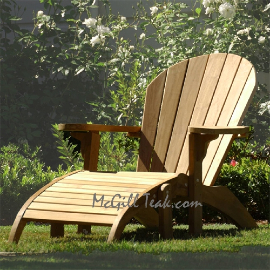 Teak Outdoor Chair – Adirondack With Ottoman For Patio Rocking Chairs With Ottoman (#12 of 15)