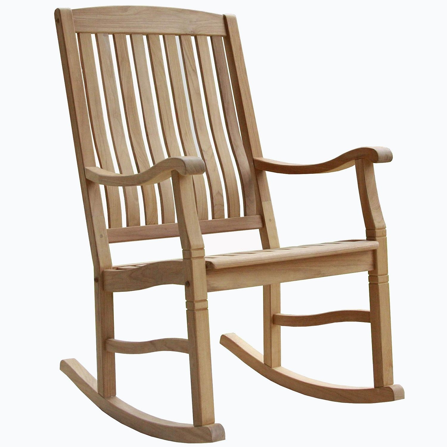 Inspiration about Teak Rocking Chair (2 Pack) 78742041506 | Ebay Intended For Teak Patio Rocking Chairs (#10 of 15)