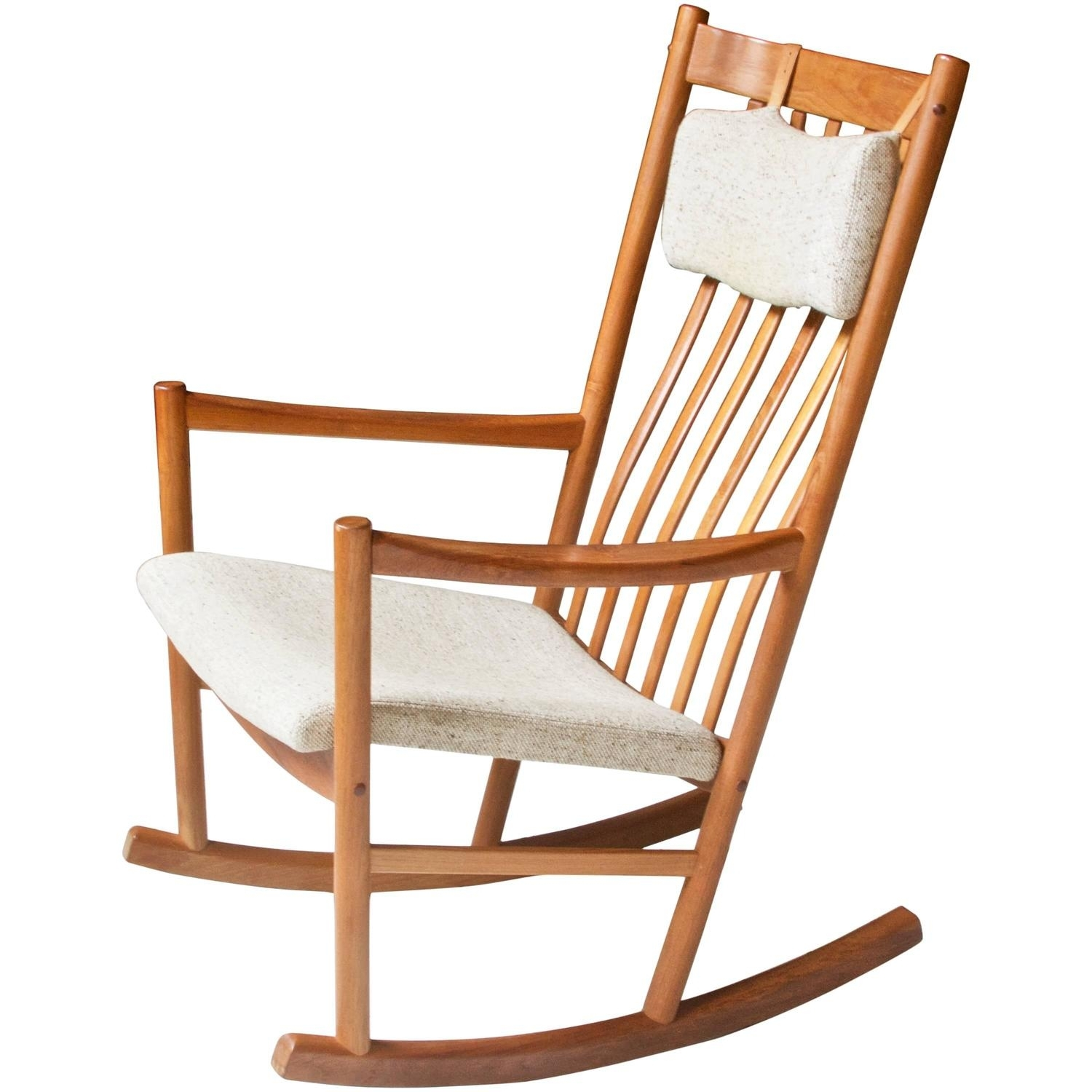 Inspiration about Teak Rocking Chair With Cord Strung Seat And Back For Sale At 1Stdibs For Rocking Chairs (#13 of 15)