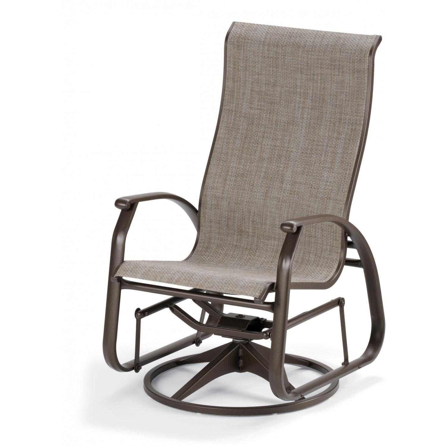 Inspiration about Telescope Casual Cape May Sling Patio Supreme Swivel Glider Dining Within Patio Sling Rocking Chairs (#5 of 15)