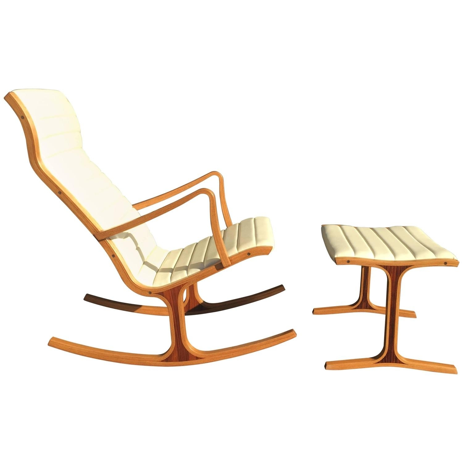 Inspiration about Tendo Mokko Heron Rocking Chair And Footrest For Kosuga Japan At 1Stdibs In Rocking Chairs With Footrest (#4 of 15)