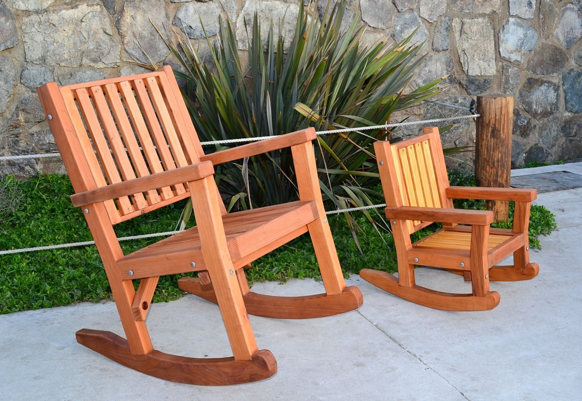 Inspiration about Terrific Massive Wood Rocking Chair Custom Redwood Rockers Oversized Regarding Oversized Patio Rocking Chairs (#8 of 15)