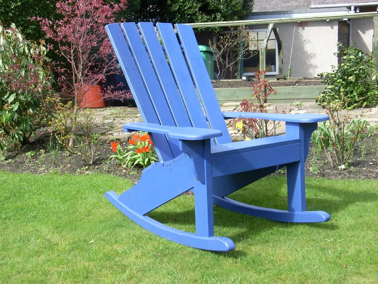 The Adirondack Rocker Chair – Sunshine Chairs Inside Rocking Chairs For Garden (#14 of 15)
