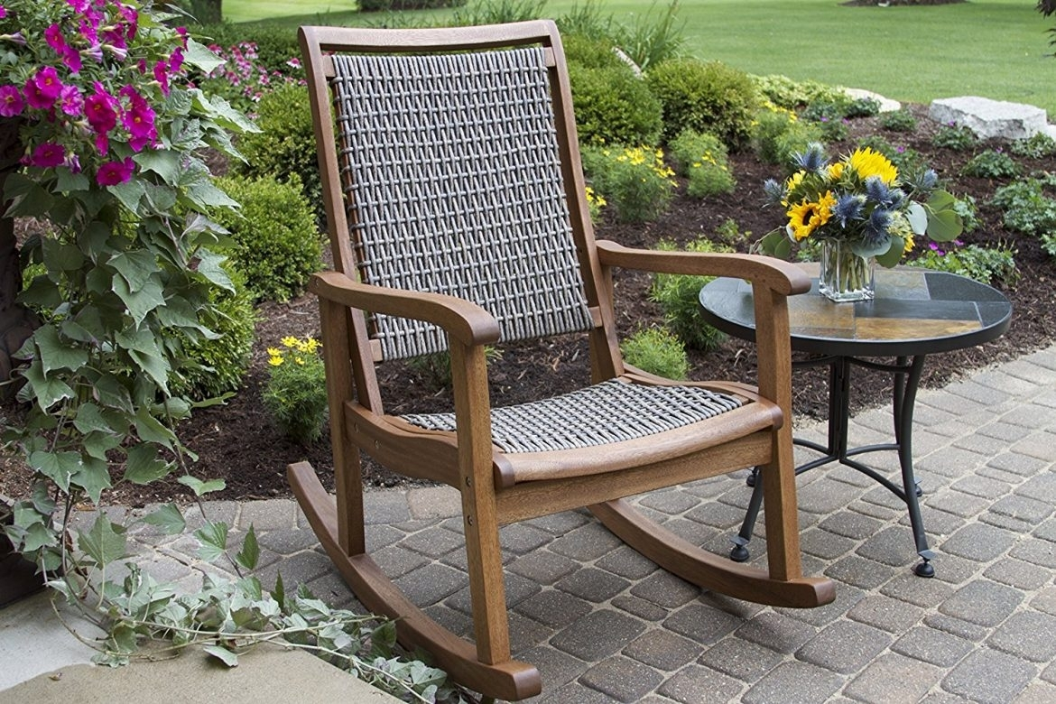 The Best Styles Of Outdoor Rocking Chairs (Styles, Designs, Options For Brown Wicker Patio Rocking Chairs (#14 of 15)