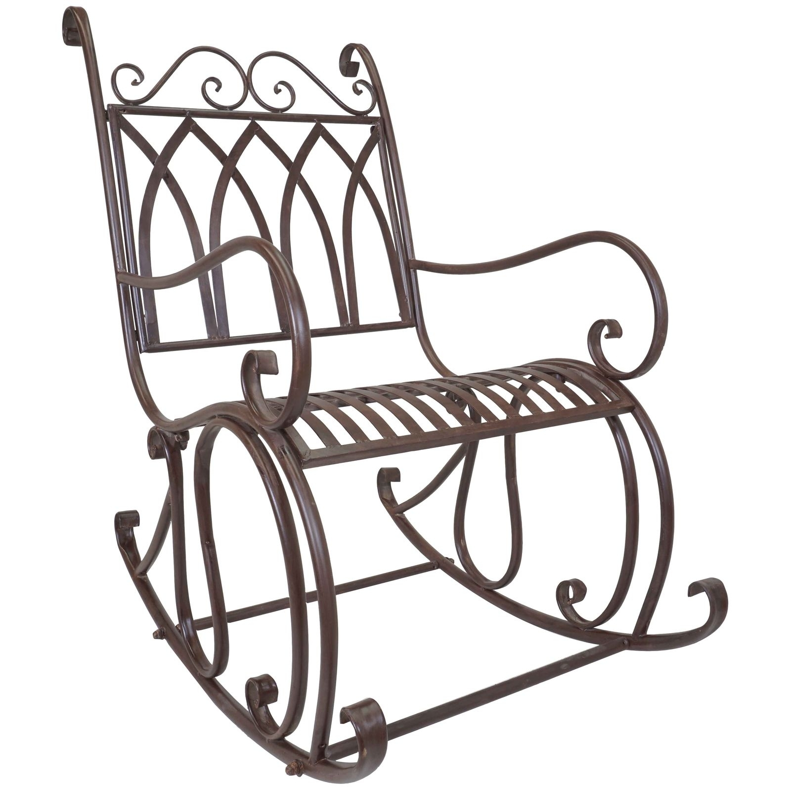 Titan Outdoor Metal Rocking Chair White Porch Patio Garden Seat Deck Intended For Outdoor Patio Metal Rocking Chairs (View 12 of 15)
